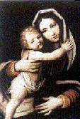 Obraz Matki Bożej przed, którym św. Magdalena Zofia złożyla swoje pierwsze śluby