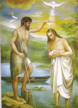 Znalezione obrazy dla zapytania obraz chrzest pański